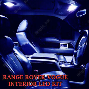 Interior Light LED replacement kit for RANGE ROVER L322 2002-12 18pcs WHITE 6K