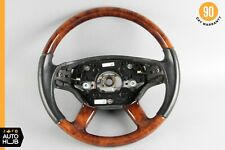 07-10 Mercedes W221 S550 CL550 Steering Wheel with Paddle Shifters Wood OEM