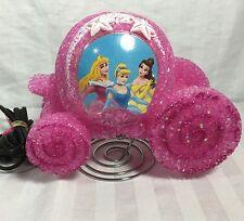 Disney Pink Plastic Popcorn Princess Carriage Table Top Nightlight