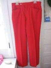 Vtg 1960 Bright Red Polyester Hipster Rockabilly Pants-Sansabelt By Jaymar-34X31