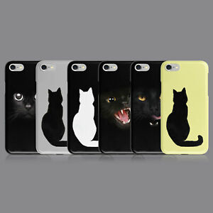 BLACK CAT FELINE SILHOUETTE PHONE CASE FOR IPHONE 7 8 XS XR SAMSUNG S8 S9 PLUS