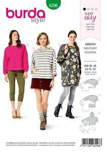 Burda Style Schnittmuster - Hoodie - Pullover - Sweatshirts - Nr.6296