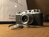 *Exc+5* Nicca 3-S Rangefinder camera Nikkor QC Q C 5cm F3.5 Leica LTM L39 Japan