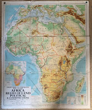 Africa Relief Of Land And Communication Map 1961