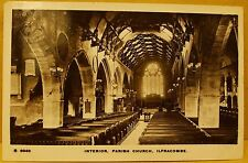 1913 Real photo postcard.- Interior Parish Church Ilfracombe. Devon.