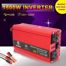 1500W/3000W Power Inverter M Sine Wave DC 12V - AC 240V Car Plug Cable 3.1A USB