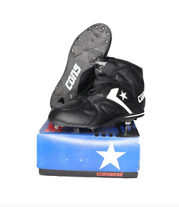NOS Vintage 90s Converse Cons Pennant Chase Baseball Cleats Black Mens Size 10