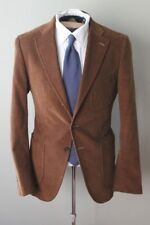 THE LEGEND Isaia Napoli Rust Brown Cordurory 3 Patch Pocket Suit SpooPoker Flat