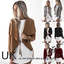 UK Womens Christmas Faux Suede Style Short Jacket Ladies Blazer Coat Size 6-16
