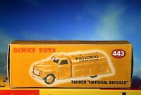 Dinky Vintage styled Tanker National Benzole Reproduction Box Number 443
