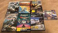 Used ~ Flight Simulator Flying PC Video Game Lot of 7 (Jetfighter, LockOn & More