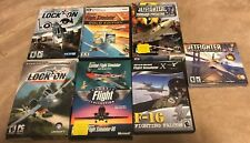 Used ~ Flight Simulator Flying PC Video Game Lot of 7 (Jetfighter, LockOn & More