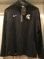 Michigan State Spartans Nike Game Day 1/2 Zip Knit Pullover Jacket XL NWT $80