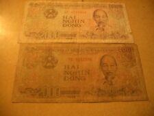 VIETNAM X2 BANKNOTES 2000 DONG