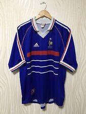 FRANCE 1998 HOME FOOTBALL SOCCER SHIRT JERSEY MAILLOT ORIGINAL ADIDAS VINTAGE