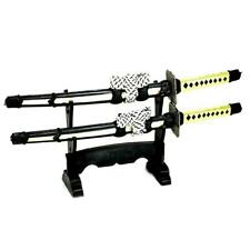 SAMURAI SWORD LETTER OPENER w STAND Mini Desk Set Double Blade Japanese Envelope