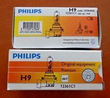 PHILIPS H9 12V 65Watt PGJ19-5 Lampe Leuchtmittel Birne Satz 2 Stück 12361C1 W018