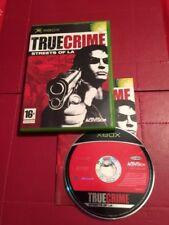 Origine Xbox Pal Jeu True Crime Streets of LA-Complet-Très bon état