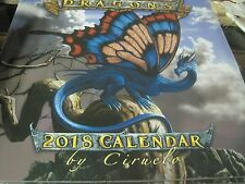 DRAGONS BY CIRUELO  2018 WALL CALENDAR 16 MONTH 12 PHOTOS SHRINK WRAPPED