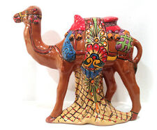 "Mexican Talavera Hand Painted Camel Effigy Hand Made Collectible 14"" x 12.5"""