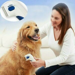 Electronic Flea Comb Dog Removal Kill Lice Pet Electric Terminator Brush for Pet
