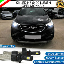 KIT FULL LED OPEL MOKKA X LAMPADE LED H7 6000K BIANCO GHIACCIO NO ERROR