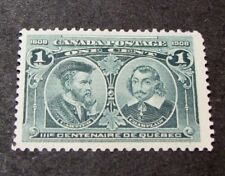 Canada Scott# 97 Quebec Tercent. Issue Cartier and Champlain MH 1908 C453