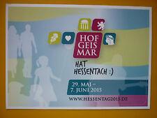 Aufkleber  Hessentag 2015  Hofgeismar ,Hofgeismar hat Hessentach