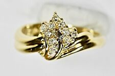 Real 18Kt Gold Diamond Ring Cocktail Ring Fine Jewelry Cluster Diamond Stylish