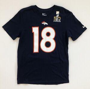 Peyton Manning Denver Broncos Super Bowl 50 Nike Name And Number T-Shirt Medium