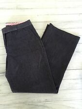 Women's Isaac Mizrahi For Target Denim Slacks Navy Blue Cotton Poly Blend Size 2