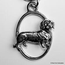 Dackel Zinn Schlüsselanhänger UK handgemacht- Dashhound Teckel Geschenk