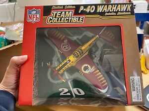 Washington FB Team Redskins NFL Fleer P-40 Warhawk Plane 1:48 Scale Die Cast NIB