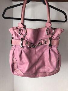B.Makowsky Rose Leather Handbag Purse READ DESCRIPTION