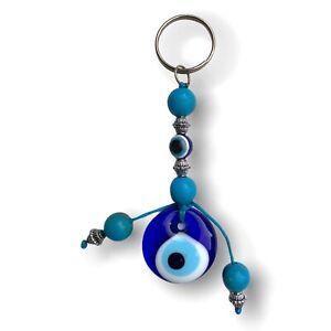 Handmade Lucky Evil Eye Key Ring Bag Hanger - Good Luck & Protection