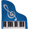 Piano Patch Iron Sew On Clothes Embroidered Badge Music Note Embroidery Applique