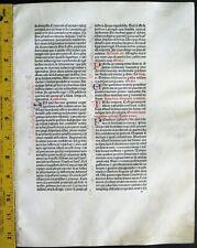 Extremely rare incunabula,Breviary lf.vellum11 handpt.initials,Jenson,1478