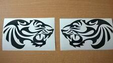 Vinilo Adhesivos Para Coches Tribal Tiger Head Llamas gráficos calcomanías X2 Espejo Retrovisor Lateral