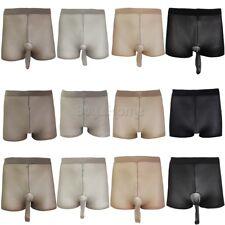 Sexy Mens Womens Sheer See-Through Shorts Thongs Briefs Stocking Underwear Panty