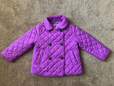 EUC Crewcuts J.Crew Everyday Jacket Quilted Peacoat Purple Lavender Girl's 3
