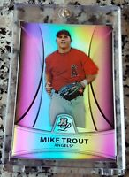 MIKE TROUT 2010 Bowman Platinum REFRACTOR SP Rookie Card RC 23/999 Angels HOT $$