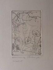 Gilbert Poillerat Gravure Originale Signée décorateur et ferronnier