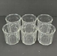 """Luminarc 500 Rock Glasses Set of 6 Clear 3.75"""" 10 Panel Drinking Glass France"""