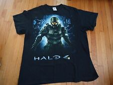 Halo 4 Black Tshirt Video Game Master Chief Xbox Size Large