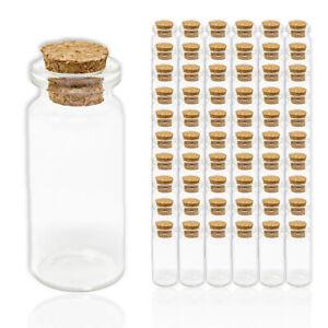 60x 10ml Glasfläschchen mit Korken Gewürzgläser Kleine Mini Gläser Gastgeschenke