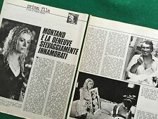 OC115 Clipping Ritaglio (70s/80s) 25x19 cm 2 pag - CATHERINE DENEUVE Y.MONTAND