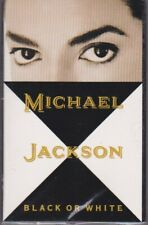MICHAEL JACKSON BLACK OR WHITE CASSETTE SINGLE  1991 w/INSTRUMENTAL TRACK MINT
