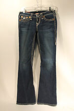 True Religion Womens Joey Super T Jeans AUTHENTIC Size 26 Dark Wash Excellent