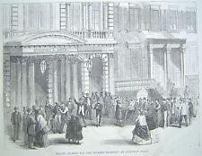 STEINWAY HALL BOSTON MASSACHUSETTS 1867 HARPER'S WEEKLY ENGRAVING