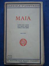 GABRIELE D'ANNUNZIO-MAIA-LAUDI DEL CIELO, DEL MARE DELLA TERRA E DEGLI EROI-1943